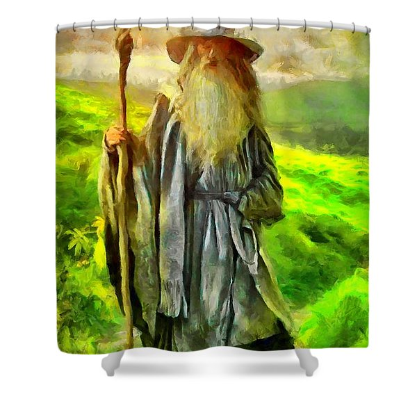 Gandalf, The  Grey Shower Curtain