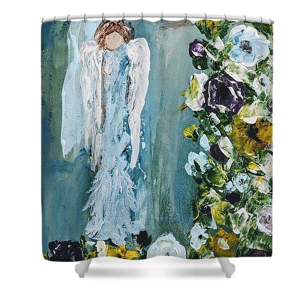 Garden Angel Shower Curtain