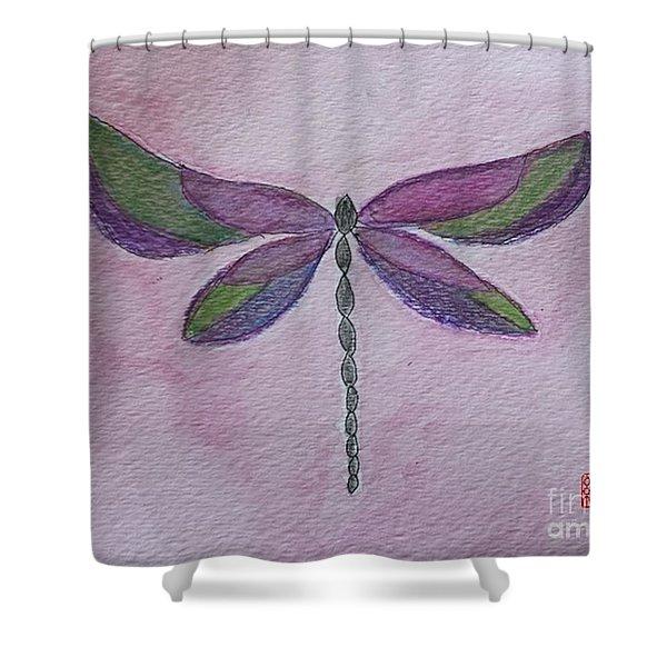 Garden Dragonfly Shower Curtain