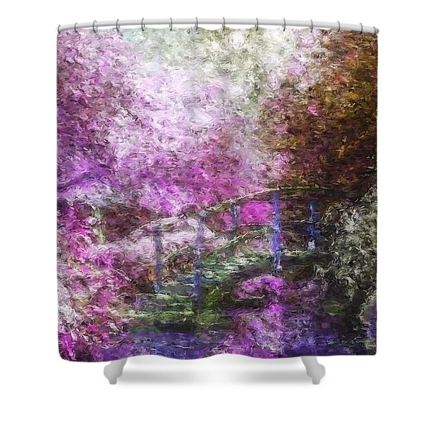 Shower Curtain featuring the painting Garden Dream by Mark Taylor