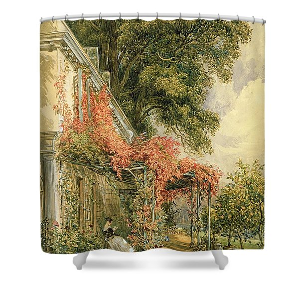 Garden Front Of Mr Robert Vernon's House At Twickenham Shower Curtain