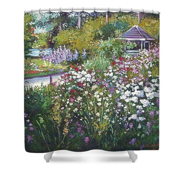 Garden Gazebo Shower Curtain