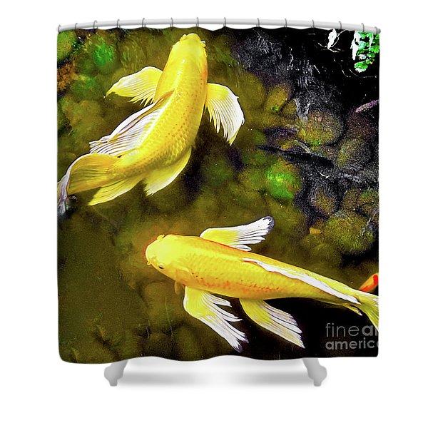 Garden Goldenfish Shower Curtain