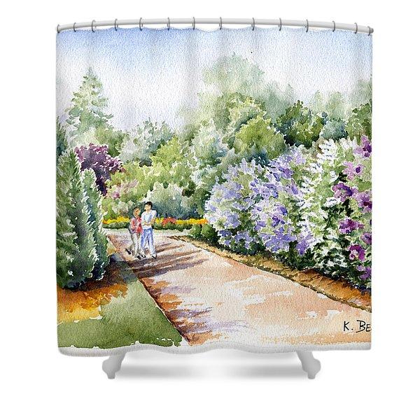 Garden Lilacs Shower Curtain