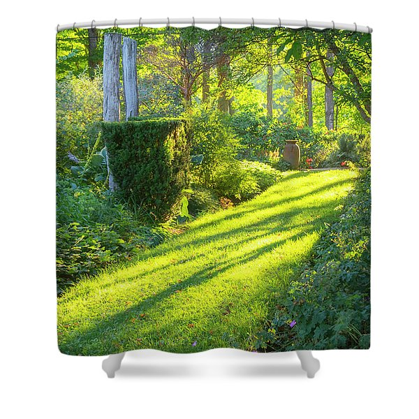 Shower Curtain featuring the photograph Garden Path by Tom Singleton