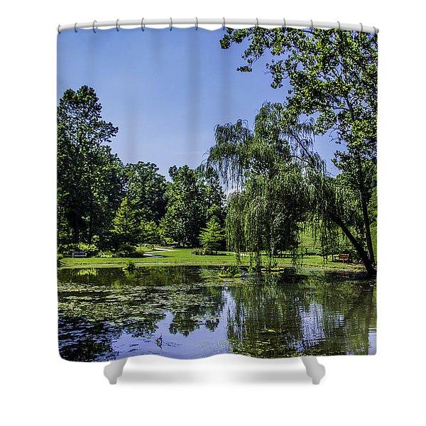 Garden Pond Shower Curtain