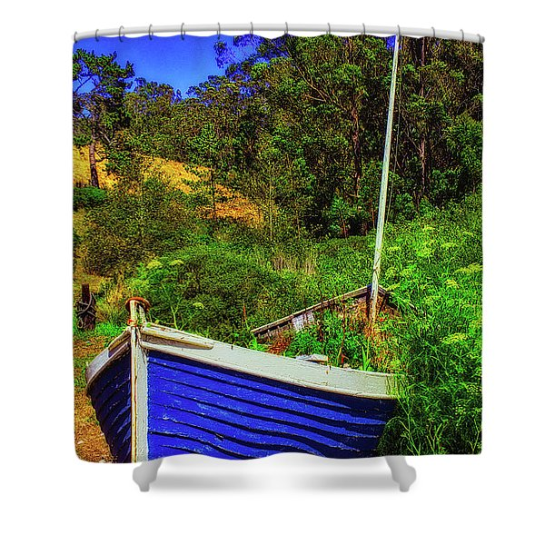 Garden Sailboat Shower Curtain