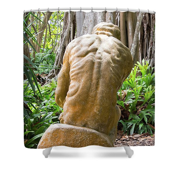 Garden Sculpture 1 Shower Curtain