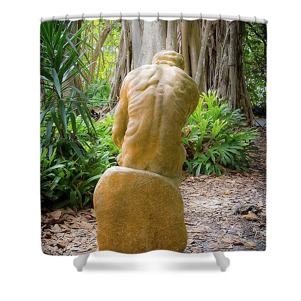 Garden Sculpture 2 Shower Curtain