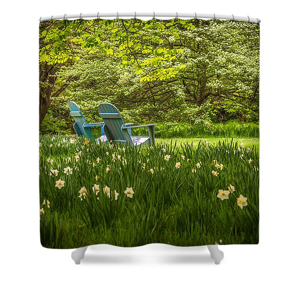 Garden Seats Shower Curtain