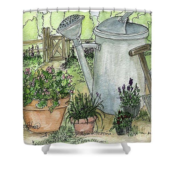 Garden Tools Shower Curtain