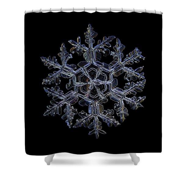Gardener's Dream, Dark On Black Version Shower Curtain