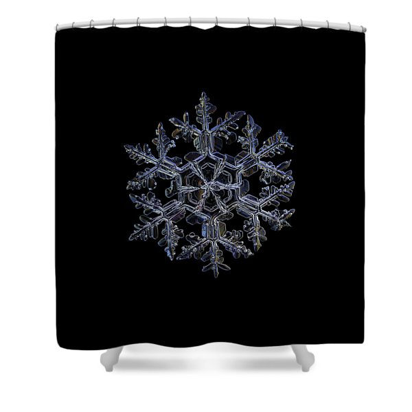 Gardener's Dream, Dark On Black Version Shower Curtain