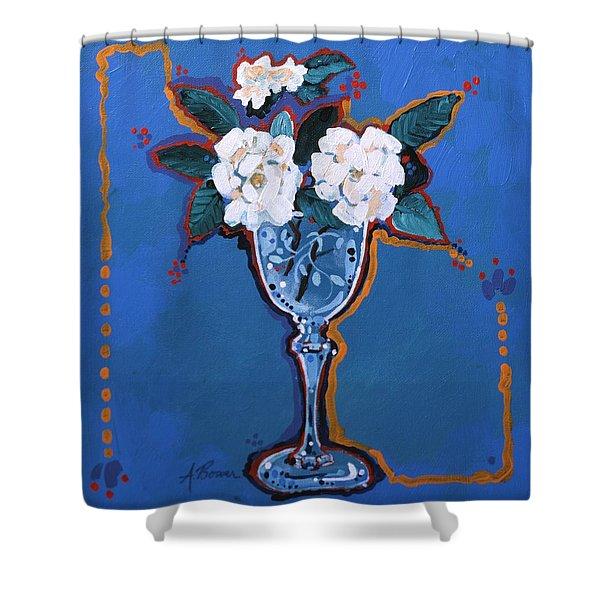 Gardenias Shower Curtain