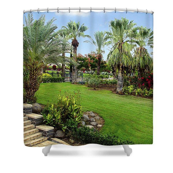 Gardens At Mount Of Beatitudes Israel Shower Curtain