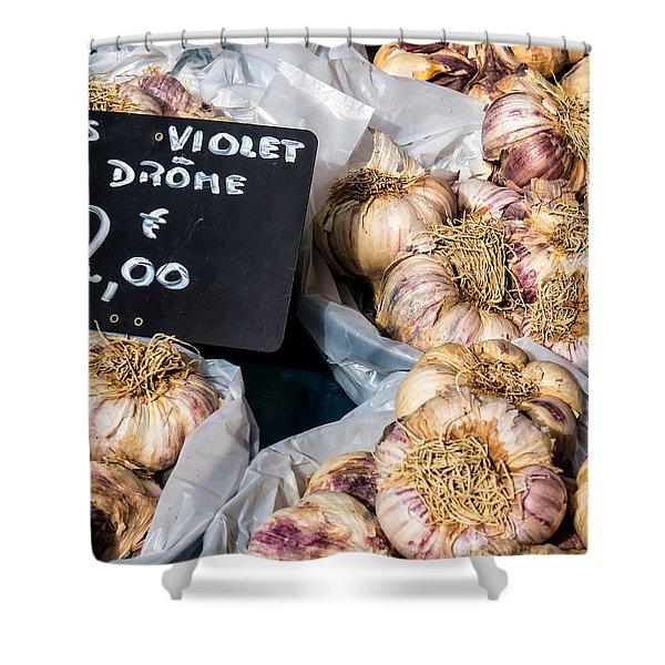 Garlic Two Euros Shower Curtain