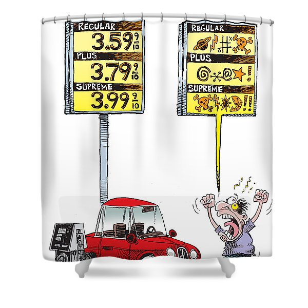 Gas Price Curse Shower Curtain