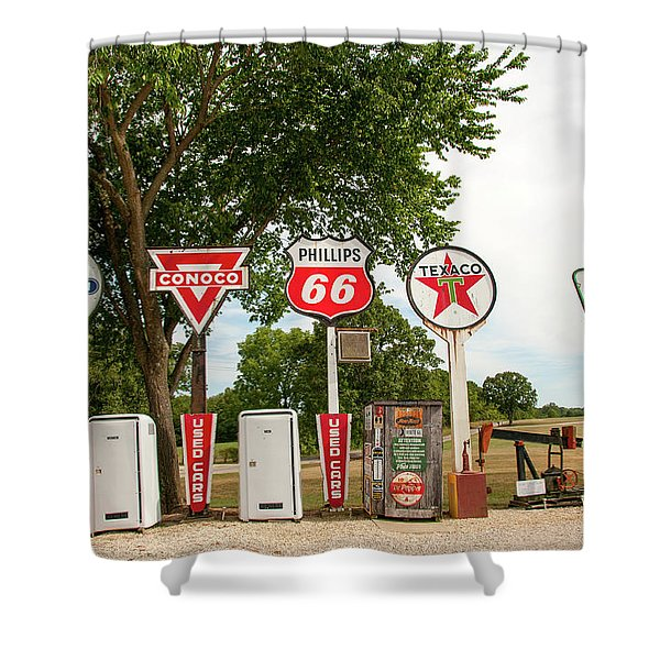 Gas Signage Shower Curtain