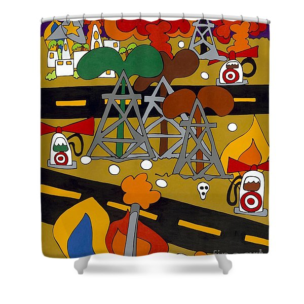Gas Wars Shower Curtain