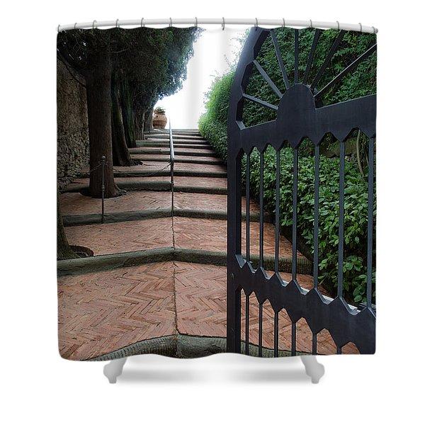 Gate To Castello Vichiamaggio Shower Curtain