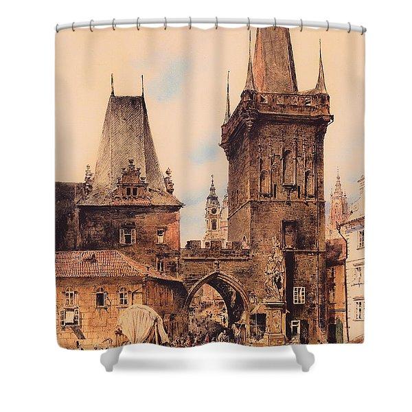 Gate To Prague Shower Curtain