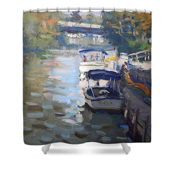 Gateway Harbor In Tonawanda Shower Curtain