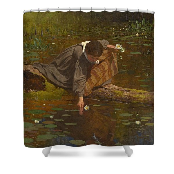 Gathering Lilies Shower Curtain