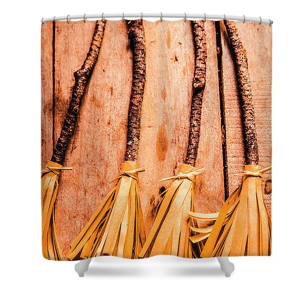 Gathering Of 4 Evil Witches Shower Curtain