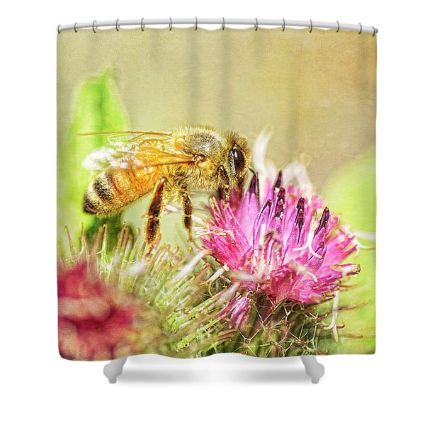 Gathering Pollen Shower Curtain
