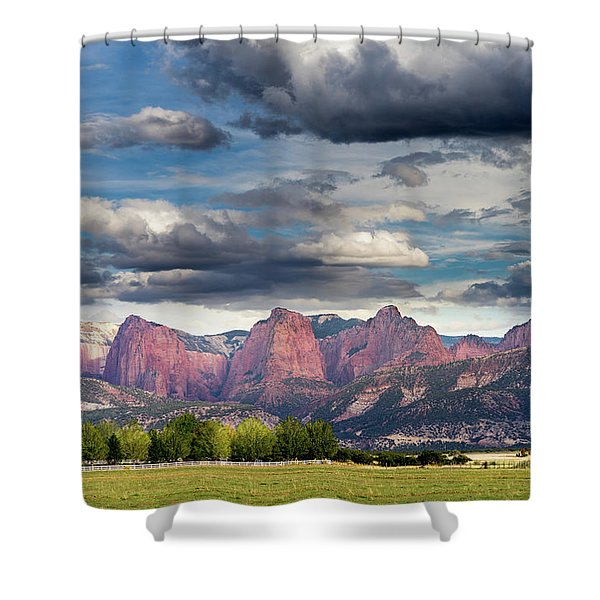 Gathering Storm Over The Fingers Of Kolob Shower Curtain