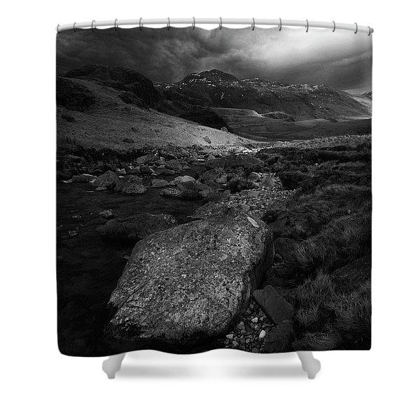 Gathering Storm,mosedale,lake District,uk Shower Curtain