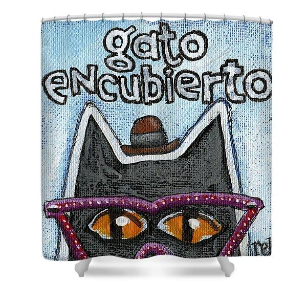 Gato Encubierto Shower Curtain