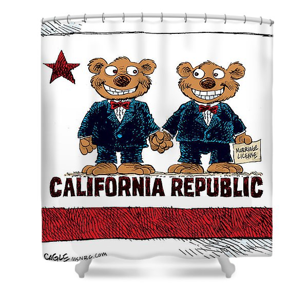 Gay Marriage In California Shower Curtain