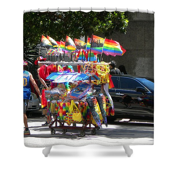 Gay Pride Flags Shower Curtain