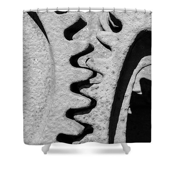 Gear - Zoom, Close Up Shower Curtain