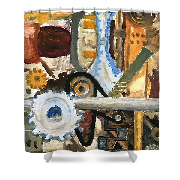 Gears In The Machine Shower Curtain