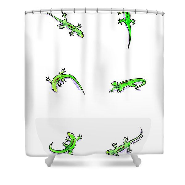 Gecko Play Shower Curtain
