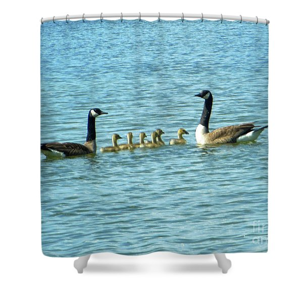 Geese Proud Parents Shower Curtain