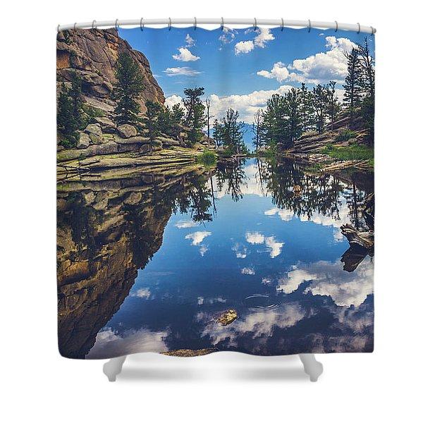 Gem Lake Reflections Shower Curtain