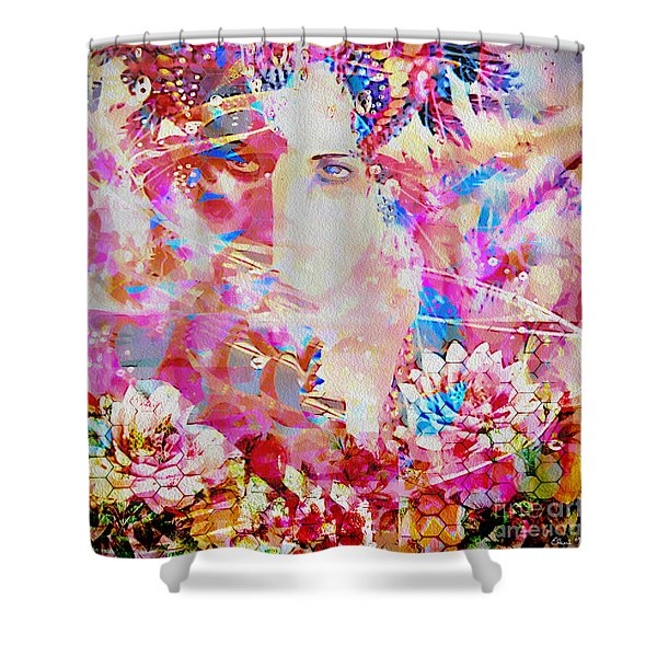 Shower Curtain featuring the photograph Gemini Woman by Eleni Mac Synodinos