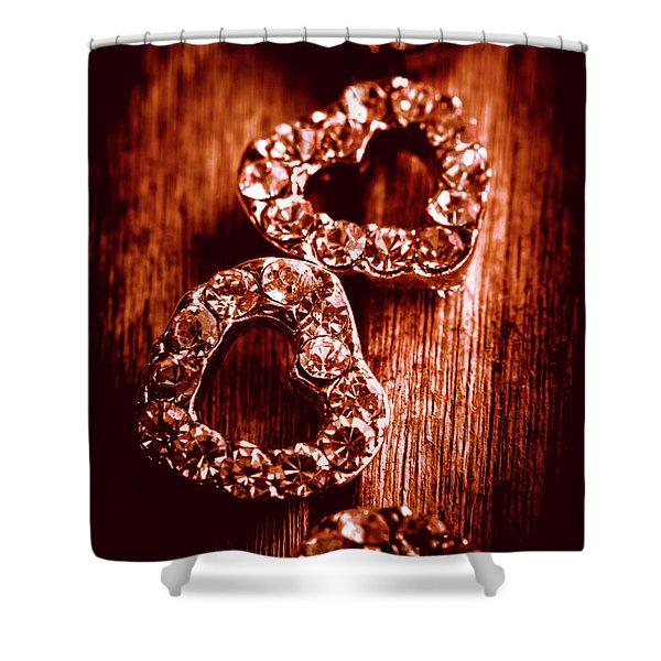 Gems Of Fashionable Romance Shower Curtain