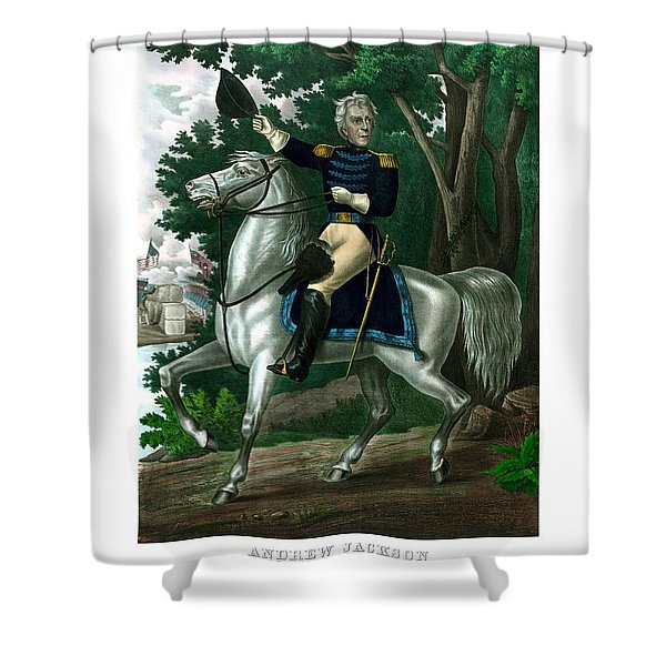General Andrew Jackson On Horseback Shower Curtain by War Is Hell Store