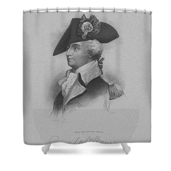 General Anthony Wayne Shower Curtain