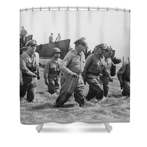 General Douglas Macarthur Returns Shower Curtain