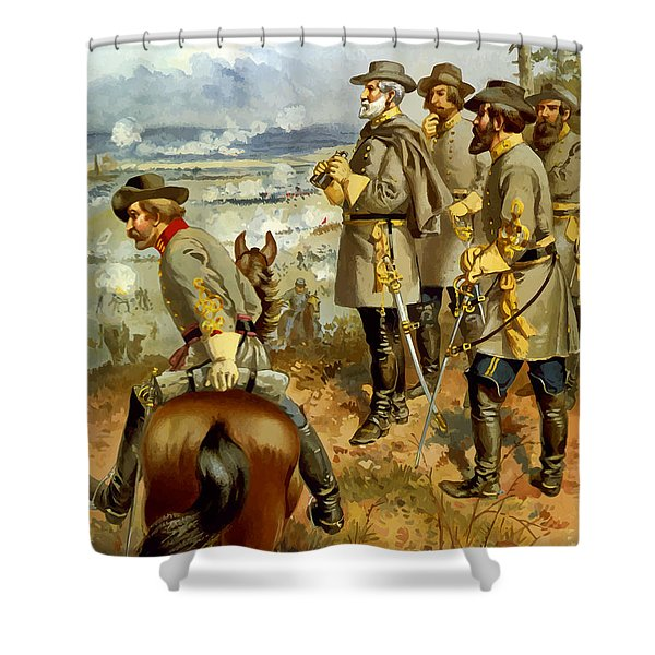 General Lee At The Battle Of Fredericksburg Shower Curtain