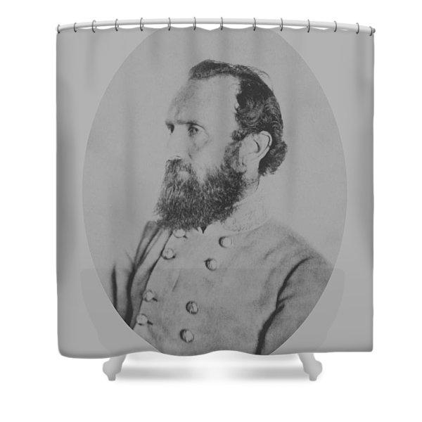 General Thomas Stonewall Jackson - Two Shower Curtain
