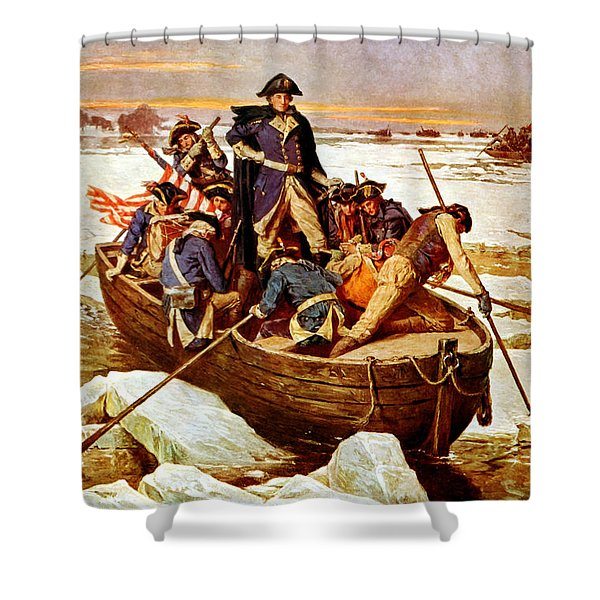 General Washington Crossing The Delaware River Shower Curtain
