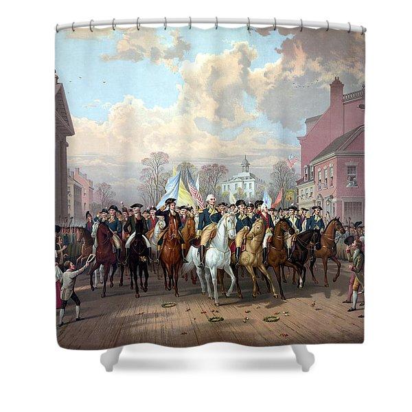 General Washington Enters New York Shower Curtain