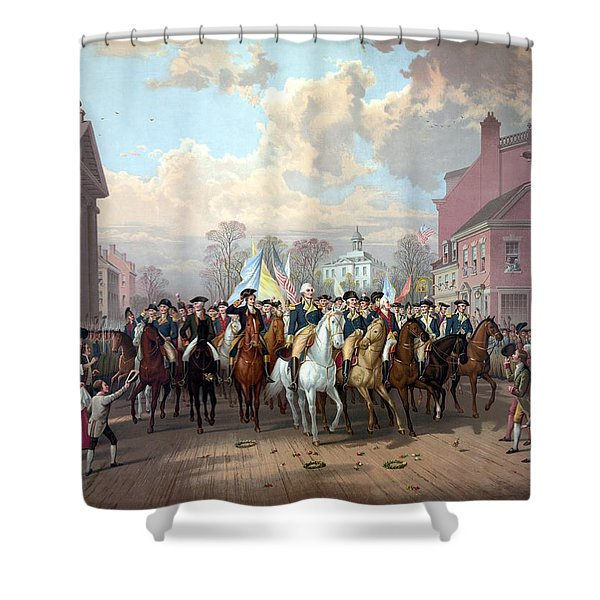 General Washington Enters New York Shower Curtain