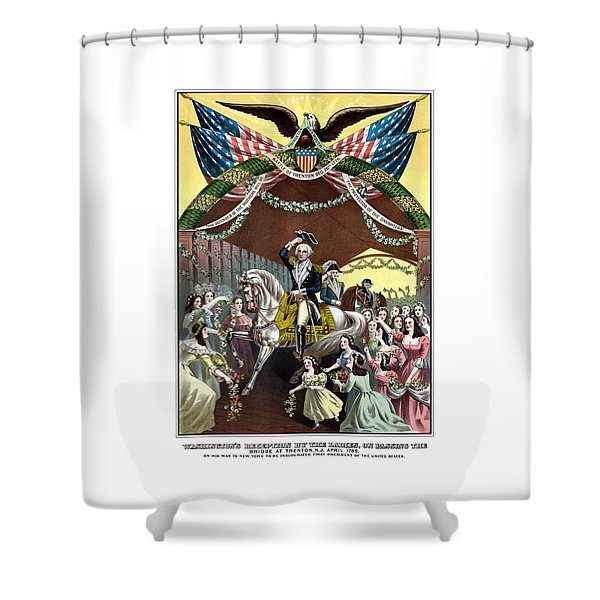 General Washington's Reception At Trenton Shower Curtain